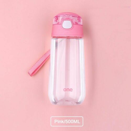 Leakproof Sports Water Bottle Portable Plastic Children Drinking Pots With Straw