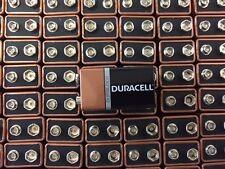 100 x (9v) Duracell CopperTop Duralock Alkaline Batteries -FRESH DATE 2020
