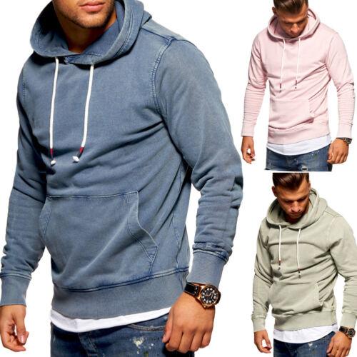 Jack /& Jones hoodie Used-Wash Con Cappuccio Pullover Maglione Felpa Blu//Rosa NUOVO