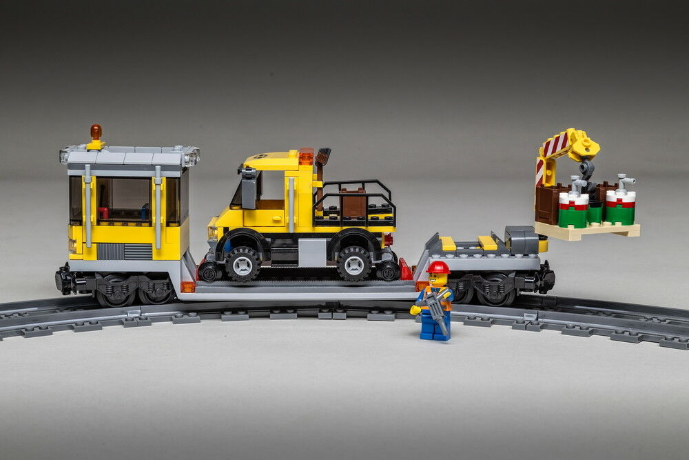 LEGO CITY FERROVIA Vagone con Gru & Guide-camion 3677/60098/60052/7939