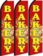 Bakery Standard Size Swooper Flag Banner Sign Pk Of 3
