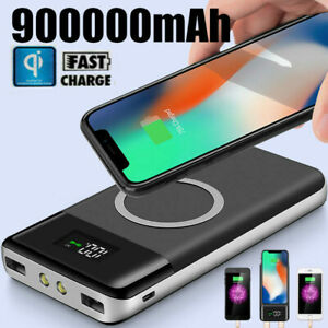 Qi-900000mAh-Power-Bank-Wireless-Charging-2USB-LCD-Charger-Portable-Battery-Pack