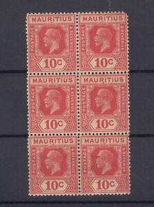 Mauritius-KGV-1921-10c-Block-Of-6-SG230-MNH-J7230