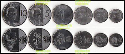 PHILIPPINES COMPLETE NEW COIN SET 1+5+25 Sentimo 1+5+10 Piso 2017 2018 UNC LOT 6