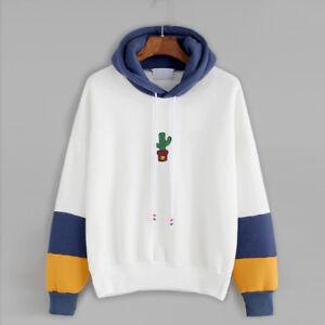 Womens-Casual-Hoody-Hoodie-Sweater-Hooded-Pullover-Sweatshirt-Jumper-Coat-Tops