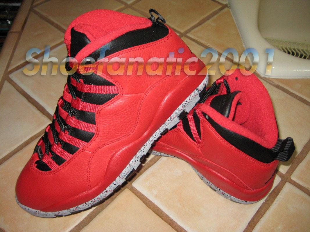 Nike Air Jordan Retro 10 30th Bulls Over Broadway Chicago Fragment Red Black 8