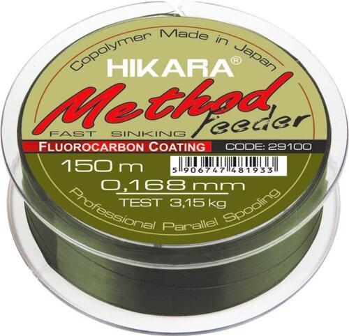 0,03 €//M Fishing LINE hikara Method Feeder feederschnur monofilament feeder 150m Top