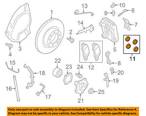porsche oem 07 15 911 rear brakes brake drum hardware kit rh ebay com