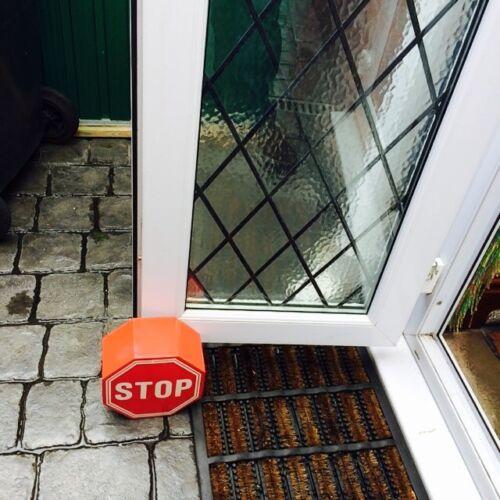 Door Stopper Octagonal Door Stop Red Metal Stop Sign with White Stop RRP £30