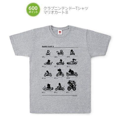 Mario Kart 8 T-shirts L-size Club Nintendo Japan New