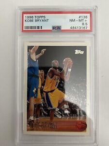 1996 TOPPS # 138 KOBE BRYANT RC ROOKIE CARD PSA 8.5 LA Lakers Black Mamba