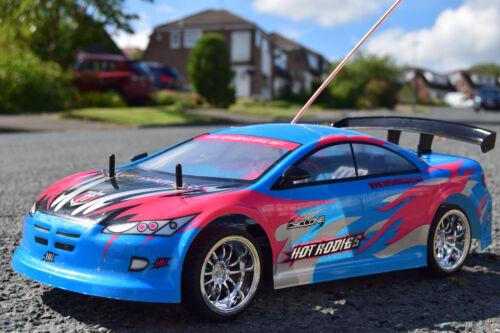 Rose MITSUBISHI Rechargeable Radio Télécommande voiture 1/10 RC Voiture Vitesse 20MPH