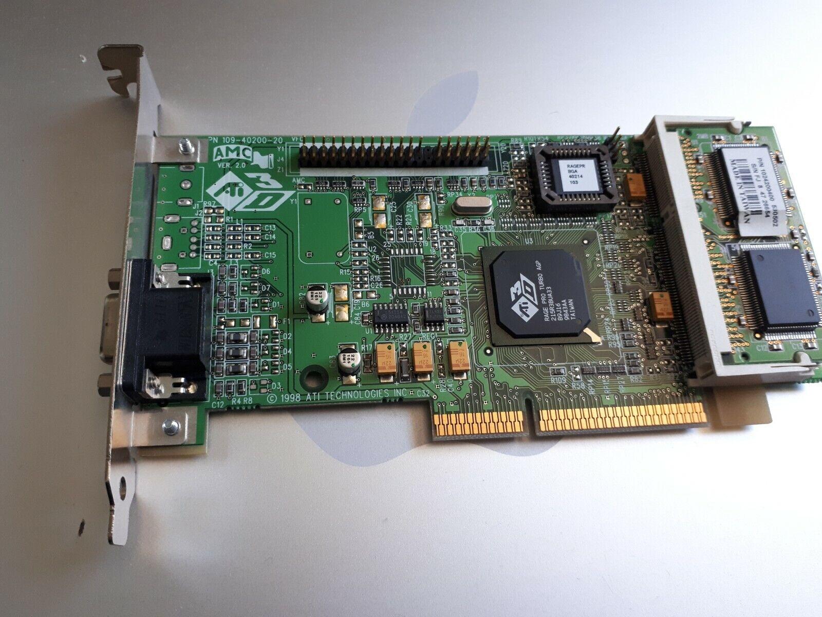 ATI 109-40200-20 3D Rage Pro Turbo AGP Video Graphics Card. S-Video RCA VGA Out