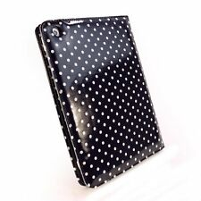 Tuff Luv Embrace Polka iPad Mini & Retina Folio Case Oil Cloth Hot Black