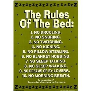 Image Is Loading The Rules Of Bed Funny Novelty Tin