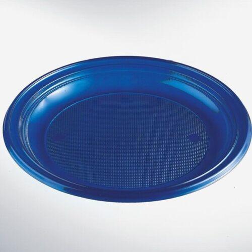 30 Plastikteller Menüteller  Einwegteller ungeteilt Ø 22 cm Teller bunt