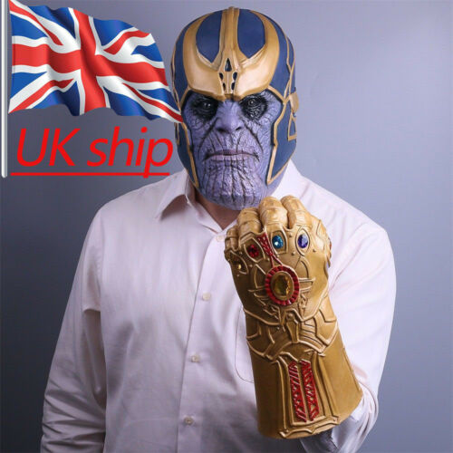Cosplay 2018 Avengers Infinity War Thanos Mask Infinity Gaunt Thanos Gloves New