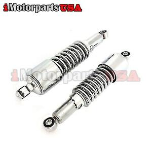 10-034-REAR-CHROME-SHOCKS-ABSORBERS-FOR-HONDA-HARLEY-VINTAGE-MOTORCYCLE-SCOOTER