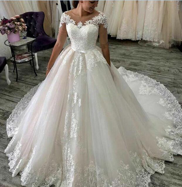 High Neck Princess Wedding Dresses Detachable Skirt Mermaid Bridal Ball Gowns