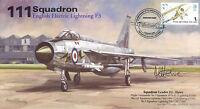 AV600 111 Squadron English Electric Lightning RAF cover signed J L HOWE