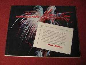 1954 Nash Metropolitan sales Brochure booklet Catalog Book Old Original