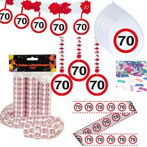 Deko set zum 70 geburtstag party dekoration geburtstagsdeko partyzubeh r deko g ebay - 70 geburtstag dekoration ...