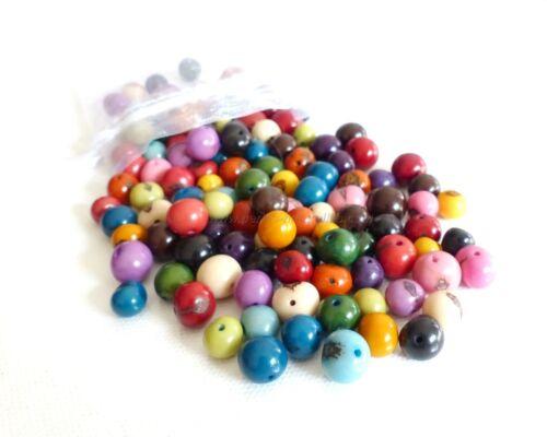 Açaï Multicolores 500 ou 1000 Perles Graines d/'Açai 100