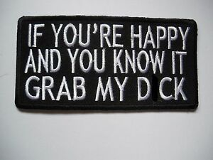 Biker-If-You-039-re-Happy-And-you-Patch-Sew-Iron-Rider-biker-Bobber