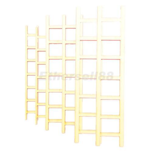 6//set Mini Wooden Ladder Shape Doll House DIY Wood Craft Accessories