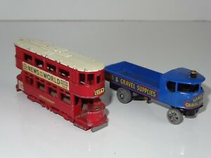 matchbox-lesney-yesteryear-LOT-OF-2-TROLLEY-BUS-amp-STEAM-LORRY