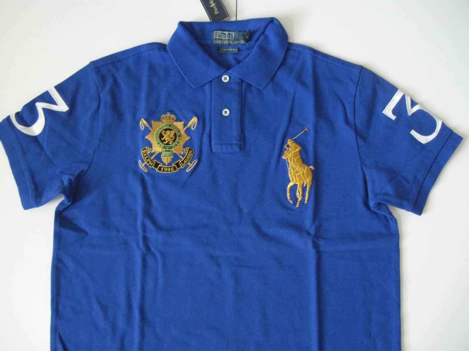 Polo Ralph Lauren Uomo orologio Nero su Misura Blu Reale Mesh Polo M