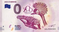 BILLET 0 EURO SOUVENIR TOURISTIQUE ZOO D'AMIENS 2018