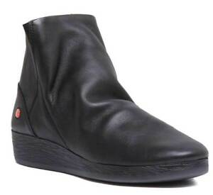 Leather Soft Size Softinos Black Ayo Womens 411 8 Boots Ankle 3 Uk wqSpI