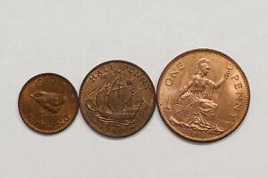 UK-GB-1949-COINS-LOT-ALL-HIGH-GRADE-B10-YL30
