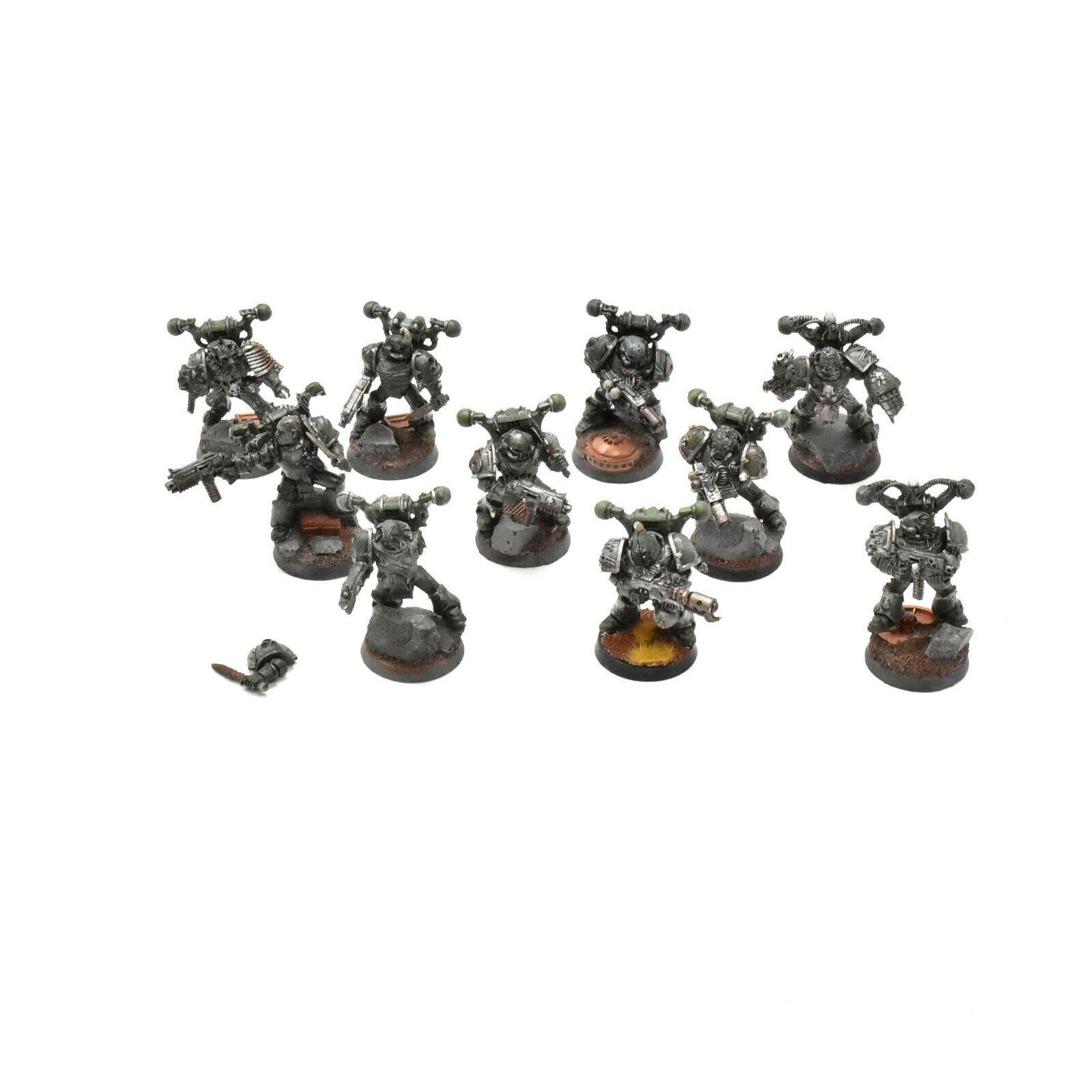 DEATH GUARD 10 nurgle plague marines  1 Warhammer 40K METAL