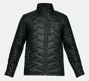 Under-Armour-Cold-Gear-reacteur-Manteau-Isotherme-Noir-Anthracite-Homme-Sz-Moyenne