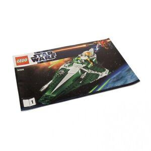1x LEGO Building Clone Star Wars Saesee Tiin's Jedi Starfighter 9498 Booklet 1