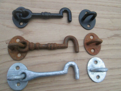Cast Iron Cabin Hook and Eye Shed Gate Door Latch