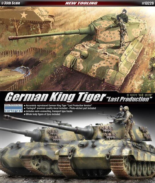 "1/35 German King Tiger ""Last Production"" / ACADEMY MODEL KIT / #13229"