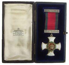 WW1 BRITISH DISTINGUISHED SERVICE ORDER G.V.R MEDAL IN CASE ORIGINAL