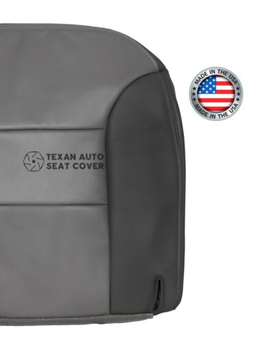 Driver Side Bottom Leather Seat Cover 2 Tone Gray 1999-2000 Chevy Tahoe Limited