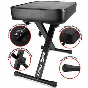 Adjustable Pro X Frame Piano Stool Keyboard Bench Keyboard Stand Music Stand UK