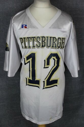 #12 VINTAGE PITTSBURGH PANTHERS AMERICAN FOOTBALL JERSEY MENS XL RUSSELL ATHLETI