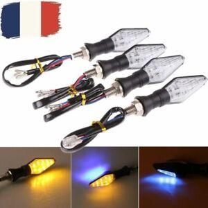 4x-12-LED-Universel-Clignotant-Moto-Signal-Indicateur-Lumineux-Ambre-eclairage