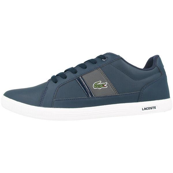 LACOSTE Europa lcr3 Scarpe Uomo Sneaker Navy Dark Grigio 7-31spm0097-8f7 Misano