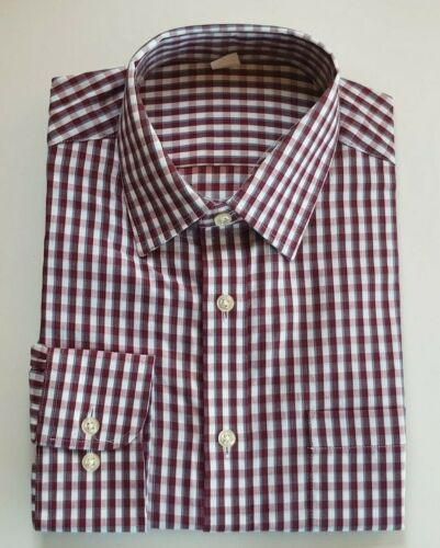 Ex M/&S REGULAR FIT PEACHED SOFT COTTON CHECKED SHIRTS 14.5-18.5