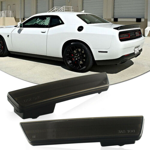 Smoked Rear Bumper Side Marker Housing For 08-14 Dodge Challenger,11-14 Charger
