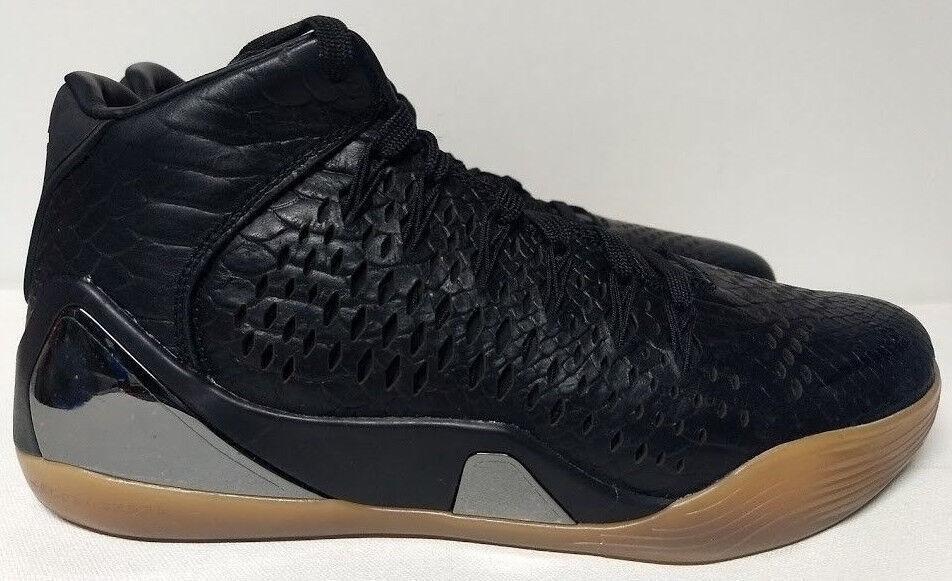 Nike Kobe IX Mid EXT QS Size 8 Black Gum Sole Mens Basketball Shoe 704286-001