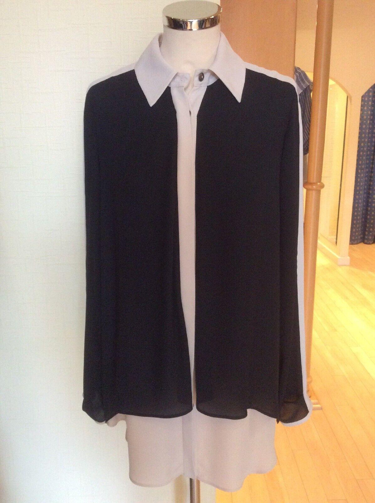 Joseph Ribkoff Blouse Größe 10 BNWT schwarz Beige  Layerot Fabric RRP  Now
