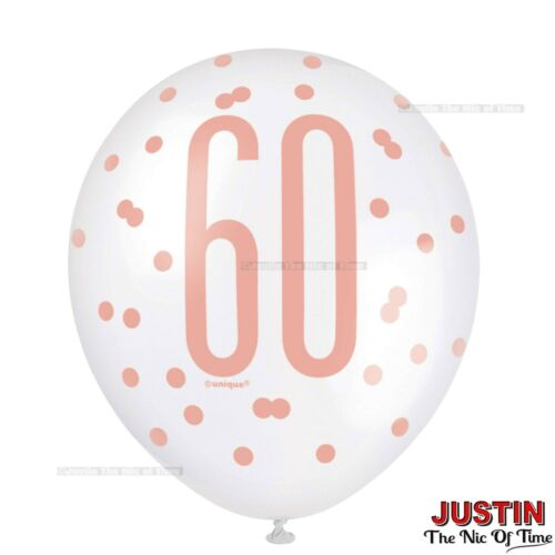 Rose Gold 60th Birthday Party Decorations Girls Ladies Balloons Banners Age 60
